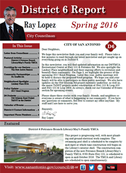 Spring 2016 City Council District 6 Newsletter