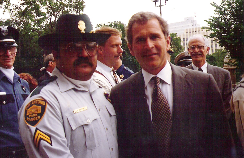 Corporal Joe Martinez and then Governor George W. Bush