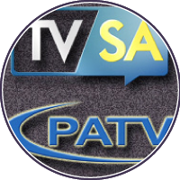 Government access channels TVSA and PATV logos