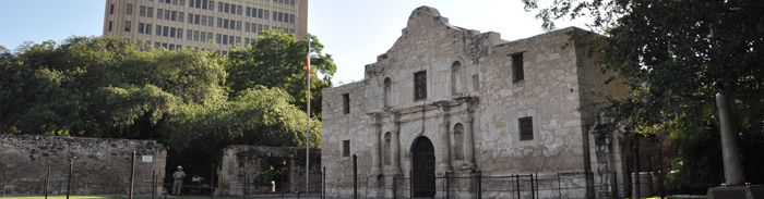 The Alamo in the morning.