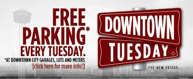 Free Parking Downtown on Tuesdays