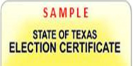 Election Identification Certificate (EIC)