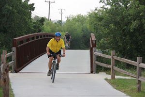 cyclists on the greenway