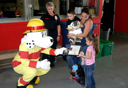 Sparky the Fire Dog and Family