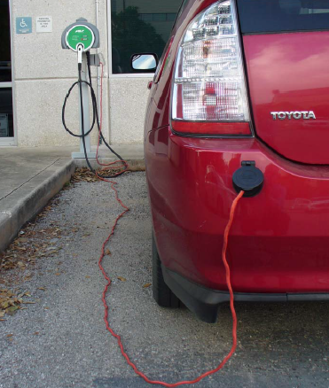 Toyota Prius plugged in