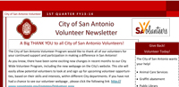 SA Volunteers Newsletter