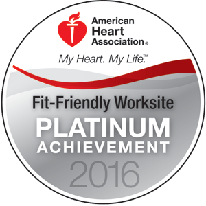 American Heart Association Fit-Friendly Worksite Platinum Achievement 2015