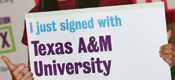 For Students: Student attends college signing day.